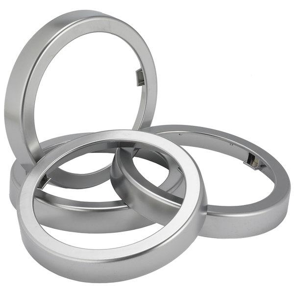 San Jamar C22XC EZ-Fit Metal Finish Rings - 2/Pack