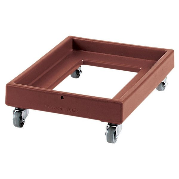Cambro CD2028131 350 lb. Dark Brown Camdolly Milk Crate Dolly