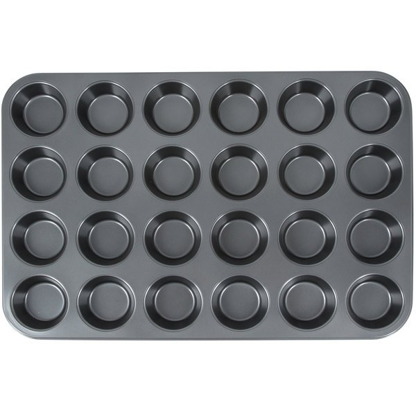 "24 Cup 3.5 oz. Non-Stick Carbon Steel Muffin / Cupcake Pan - 14"" x 20 1/2"" Main Image 1"