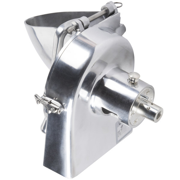 Hobart VS9-12 9 inch Slicer Attachment with #12 Back Case, Hopper Front, and Adjustable Slicing Plate