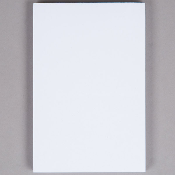 Choice 1 Part White Scratch Pad  - 100/Case
