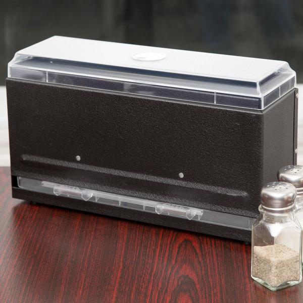 Vollrath 3821-06 Straw Boss Single Sided Bulk Straw Dispenser - Black