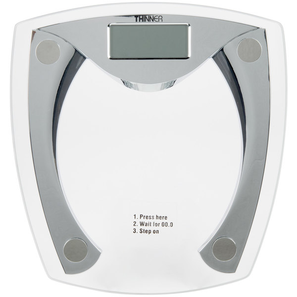 Conair MS-8012W Thinner Silver Glass Plated Scale Main Image 1