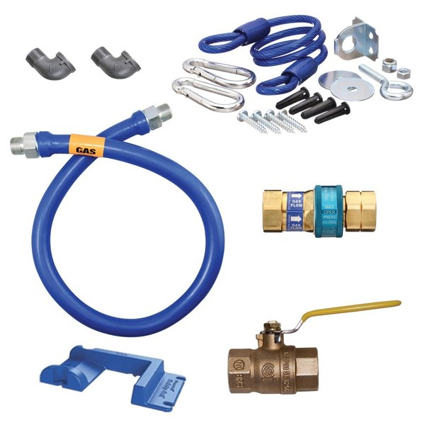 """Dormont 1650KIT36PS Deluxe SnapFast® 36"""" Gas Connector Kit with Safety-Set® - 1/2"""" Diameter"""