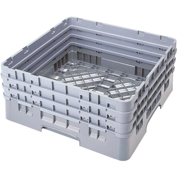 Cambro BR712151 Soft Gray Camrack Full Size Open Base Rack with 3 Extenders Main Image 1