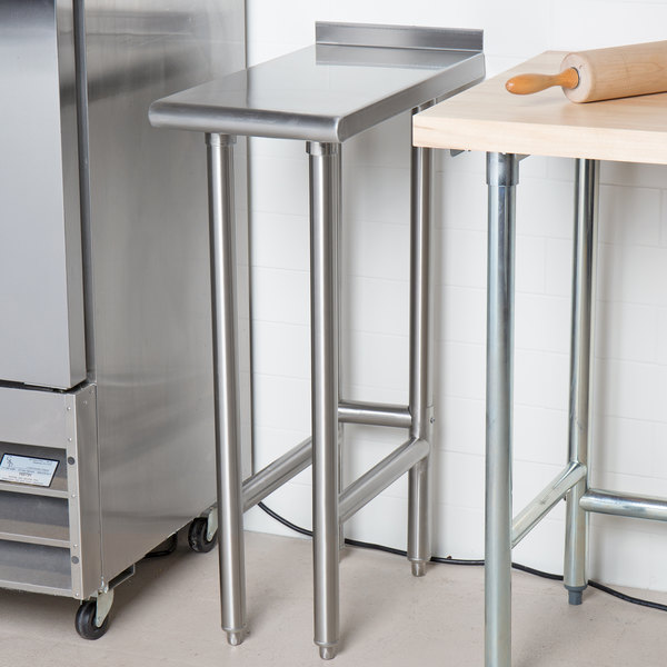 """Advance Tabco TFMS-152 15"""" x 24"""" Equipment Filler Table"""