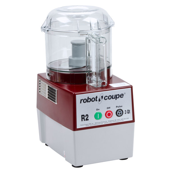 Robot Coupe R2BCLR Food Processor with 3 Qt. Clear Polycarbonate Bowl - 1 hp Main Image 1