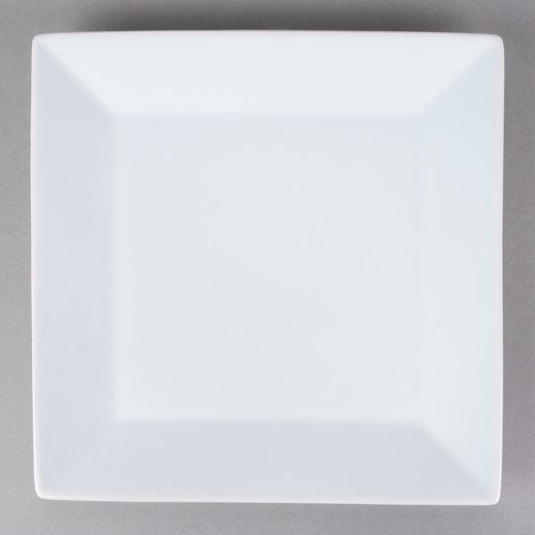 Core 10 inch Bright White Square China Plate  - 12/Case