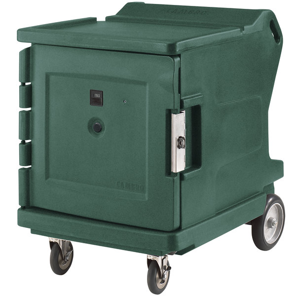 Cambro CMBHC1826LSP192 Camtherm® Granite Green Low Profile Electric Hot / Cold Food Holding Cabinet in Fahrenheit with Security Package - 110V Main Image 1