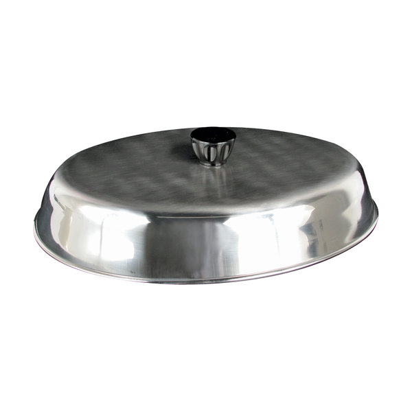 """American Metalcraft BAOV972S - 11 7/8"""" x 8 3/4"""" Oval Stainless Steel Basting Cover Main Image 1"""