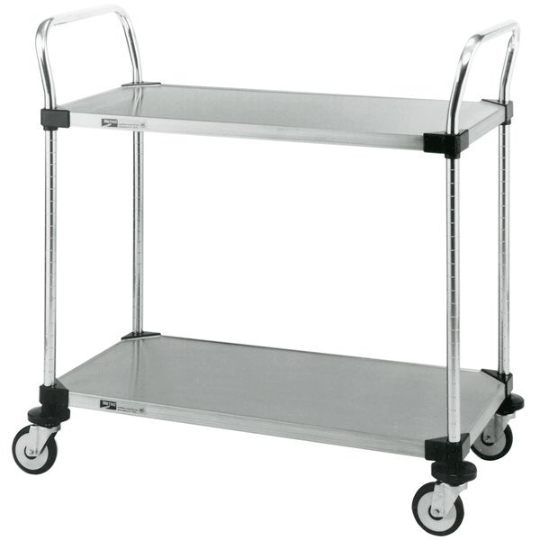"Metro MW103 Super Erecta 18"" x 24"" x 38"" Two Shelf Standard Duty Stainless Steel Utility Cart Main Image 1"