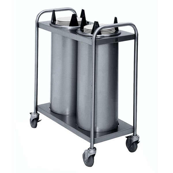 """APW Wyott TL2-8 Trendline Mobile Unheated Two Tube Dish Dispenser for 7 3/8"""" to 8 1/8"""" Dishes"""