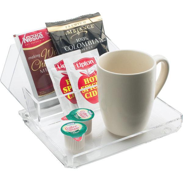 Cal-Mil 490 Clear Acrylic Coffee Amenity Tray Main Image 1