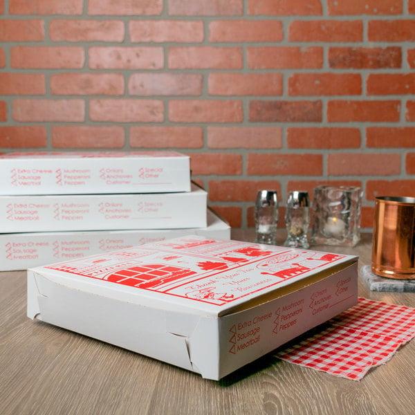 "10"" x 10"" x 1 1/2"" Clay Coated Pizza Box - 100/Bundle"
