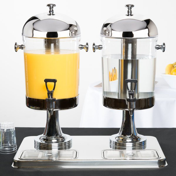 Tablecraft 72 4.2 Gallon Dual Bowl Cold Beverage / Juice Dispenser Main Image 2