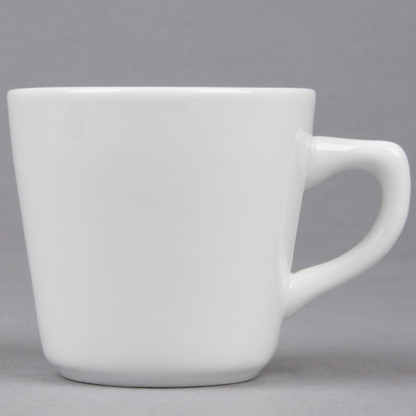 7.5 oz. Bright White Tall Porcelain Coffee Cup - 36/Case