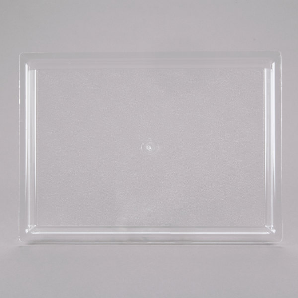 "Cal-Mil 325-10-12 10"" x 12"" Shallow Clear Bakery Tray"