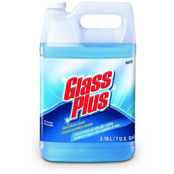 Diversey 94379 Glass Plus 1 gallon / 128 oz. Non-Ammonia Glass Cleaner - 4/Case