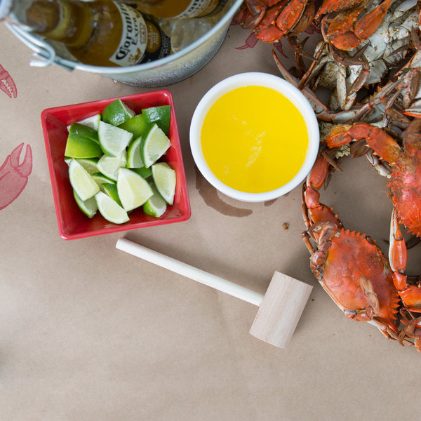 "7"" Wooden Lobster / Crab Mallet"