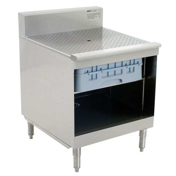 """Eagle Group WBGR12-18 1800 Series 12"""" Modular Glass Rack Storage Unit with Recessed Worktop"""