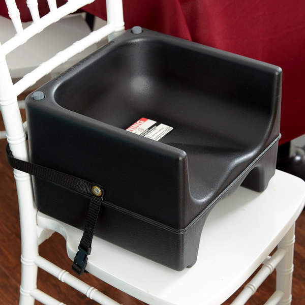 Cambro 200BCS110 Black Plastic Booster Seat - Dual Seat with Strap