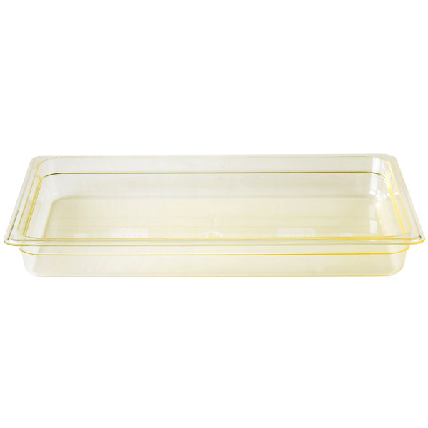 Cambro 12HP150 H-Pan Full Size Amber High Heat Food Pan - 2 1/2 inch Deep