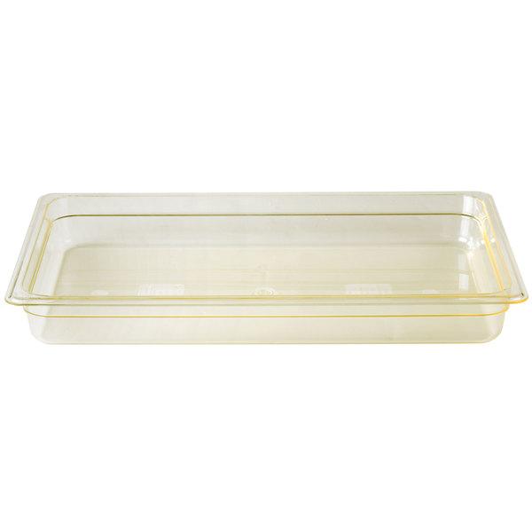 Cambro 12HP150 H-Pan Full Size Amber High Heat Food Pan - 2 1/2 inch Deep