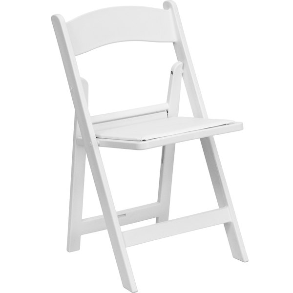 Merveilleux Flash Furniture LE L 1 WHITE GG White Plastic Folding Chair With Padded Seat