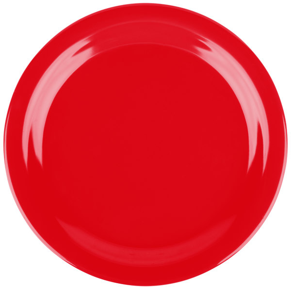 Add flair to your casual dining area with the Carlisle 4350105 Dallas Ware 9  red melamine dinner plate!  sc 1 st  WebstaurantStore & Carlisle 4350105 Dallas Ware 9