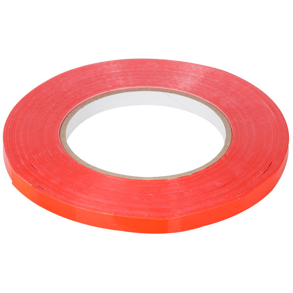 """Poly Bag Sealing Tape White 3//8/"""" x 180 Yards 2.4 Mil 6 Rolls with Tape Dispenser"""
