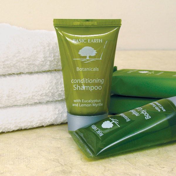 Basic earth botanicals hotel and motel conditioning for Motel one shampoo