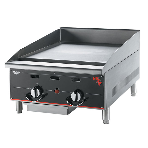 "Vollrath 936GGT Cayenne 36"" Heavy Duty Countertop Griddle with Thermostatic Controls - 90,000 BTU"