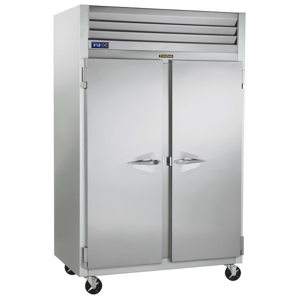 Traulsen G20014P 2 Section Solid Door Pass-Through Refrigerator - Left / Right Hinged Doors Main Image 1