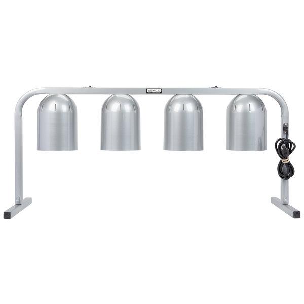 Nemco 6008-4 Portable 4 Bulb Countertop Heat Lamp 120V