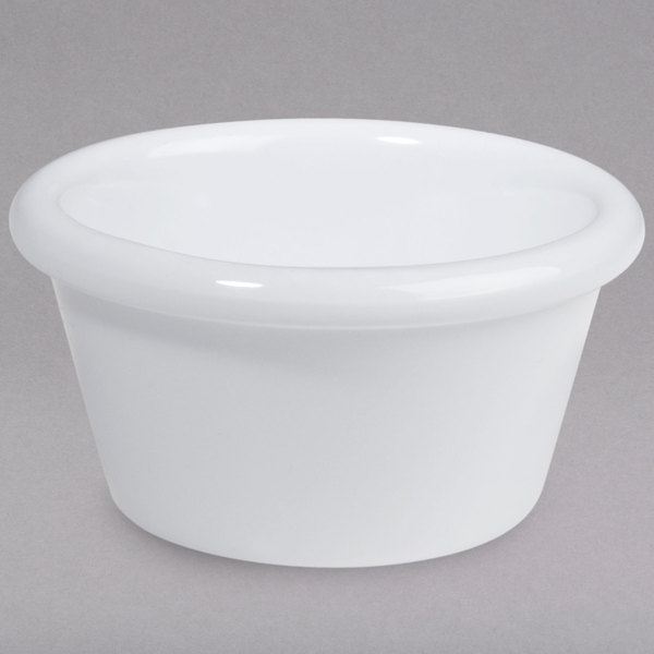 1.5 oz. White Smooth Melamine Ramekin - 12/Pack