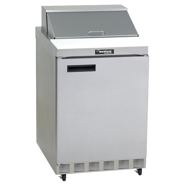 "Delfield 4427N-6 27"" 1 Door Refrigerated Sandwich Prep Table"