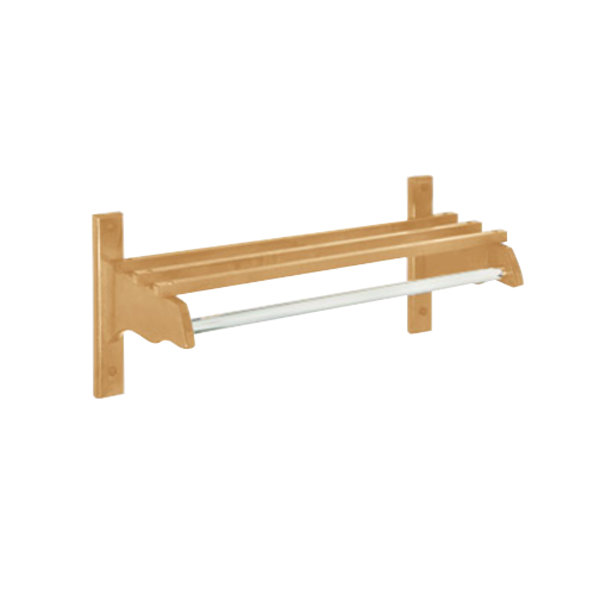 "CSL TJF-1824 24"" Light Oak Hardwood Top Bars Wall Mount Coat Rack and 1"" Metal Hanging Rod"