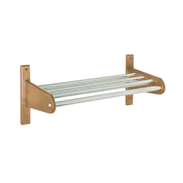 "CSL TFXMB-3336 36"" Light Oak Frame Wall Mount Coat Rack with Metal Interior Top Bars with 5/8"" Hanging Rod"