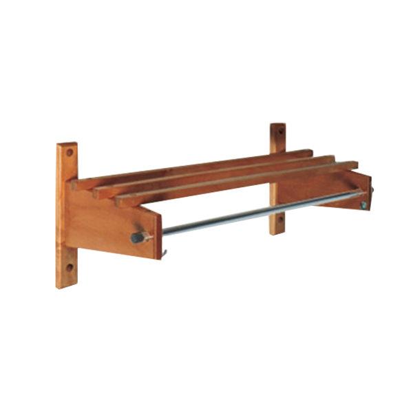 "CSL TCO-3748D 42"" Dark Oak Hardwood Top Bars Wall Mount Coat Rack and 1"" Hanging Rod"