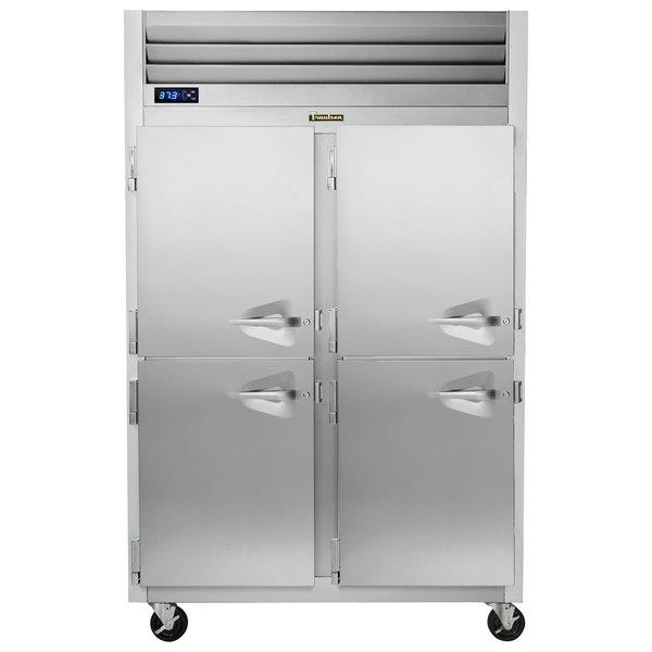 Traulsen G20005P 2 Section Solid Half Door Pass-Through Refrigerator - Left / Left Hinged Doors Main Image 1