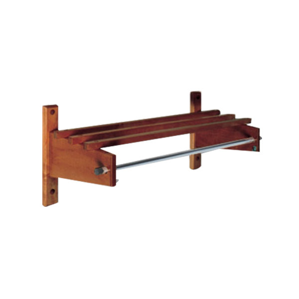 "CSL TSO-3748CM 48"" Cherry Mahogany Hardwood Top Bars Wall Mount Coat Rack with 5/8"" Metal Hanging Rod"