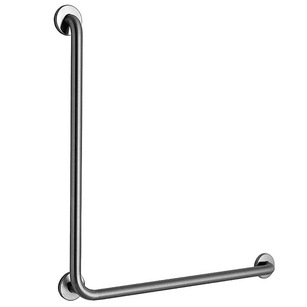 B-5898 Stainless Steel 90 Degree Grab Bar with Satin Finish