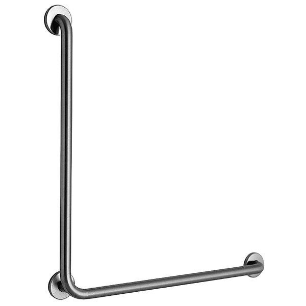 B-6898.99 Stainless Steel 90 Degree Grab Bar with Satin Peened ...