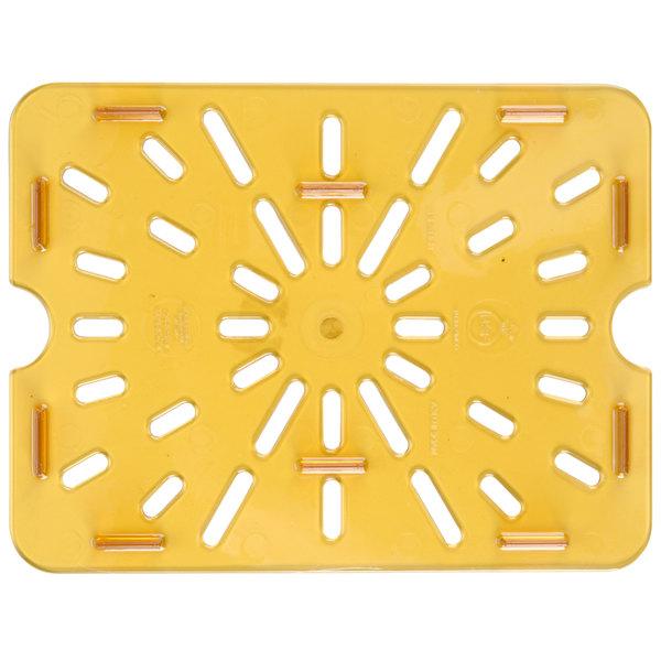 Carlisle 1043513 1/2 Size Amber High Heat Drain Tray