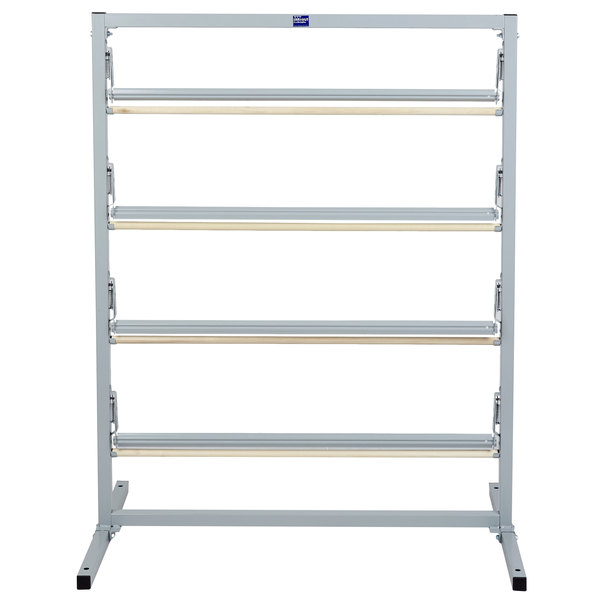 """Bulman T369R-36 36"""" Four Deck Tower Paper Rack with Straight Edge Blade"""