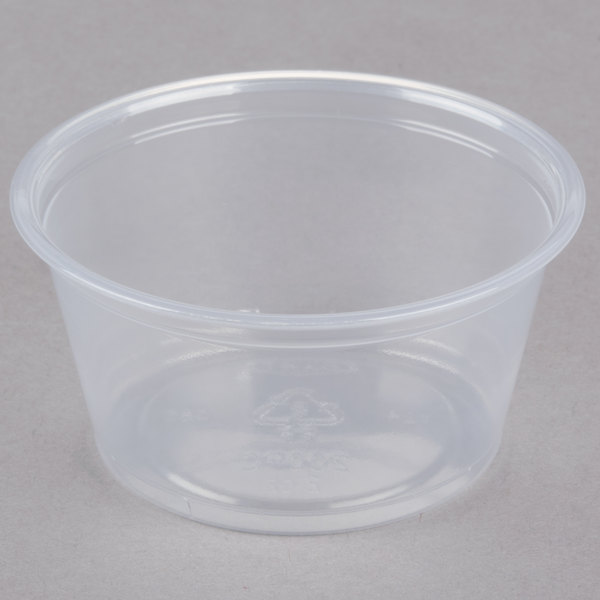 Dart Conex Complements 200PC 2 oz. Translucent Plastic Souffle / Portion Cup - 2500/Case