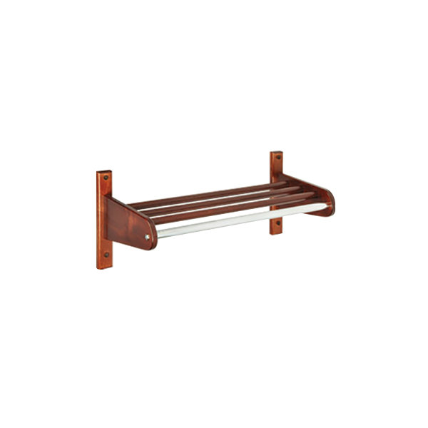 "CSL TFXWMB-1824CM 18"" Cherry Mahogany Hardwood Top Bars Wall Mount Coat Rack with 5/8"" Metal Hanging Rod"