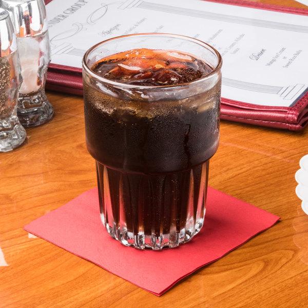 Hoffmaster 180311 Red Beverage / Cocktail Napkin - 250/Pack