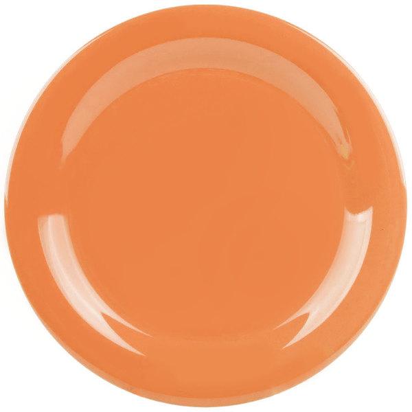 GET NP-10-PK Pumpkin Diamond Harvest 10 1/2 inch Rolled Edge Plate  - 12/Case