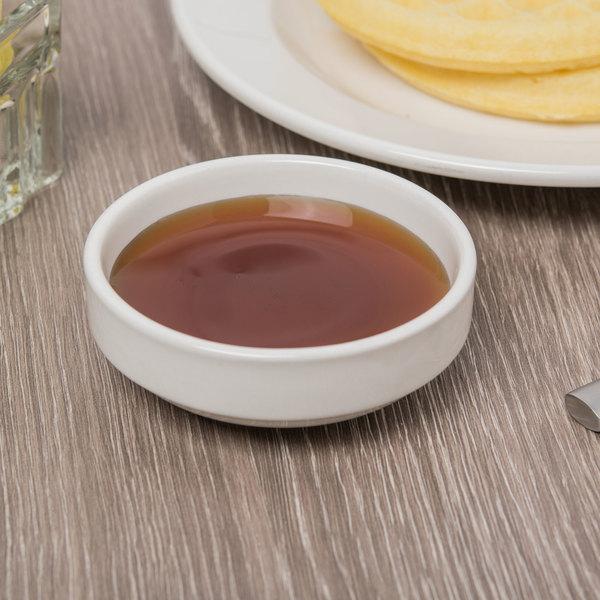 Syracuse China 900020063 Flint 3 oz. Ivory (American White) Porcelain Multi-Purpose Dish - 36/Case